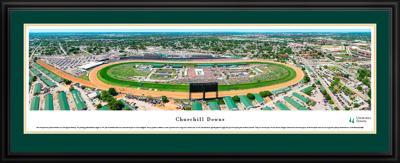 Churchill Downs Panoramic Picture - Aerial Race Day Photo