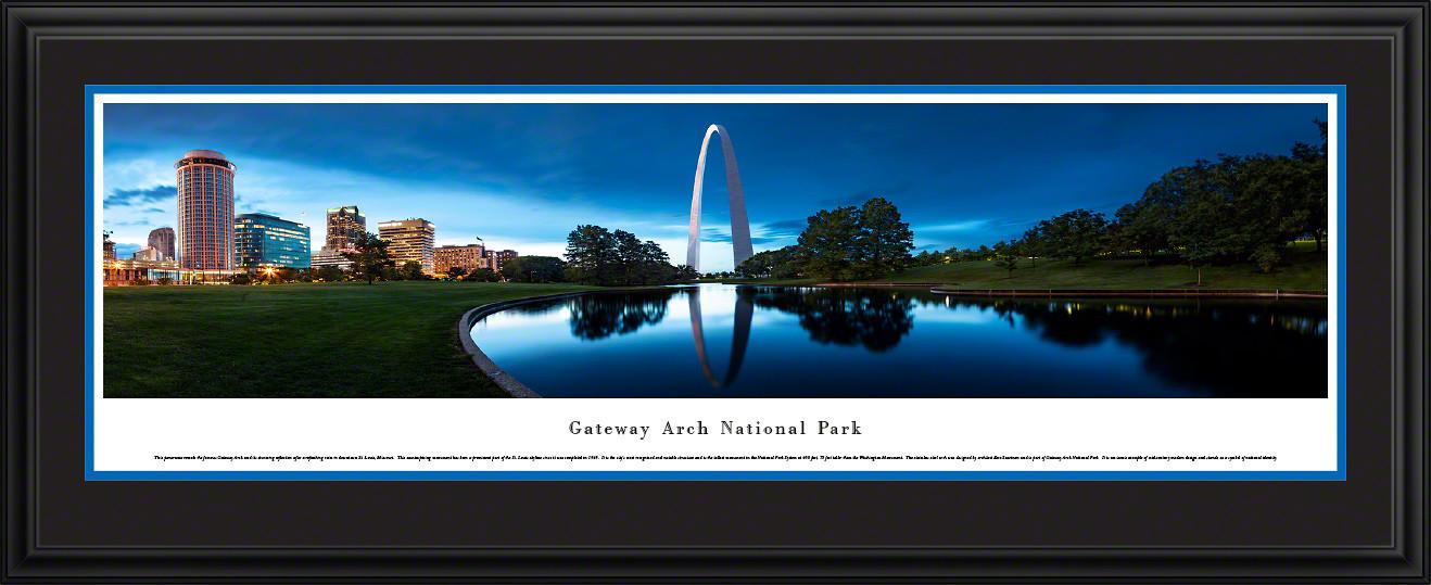 Gateway Arch National Park Panoramic Print - St. Louis, Missouri Wall Decor