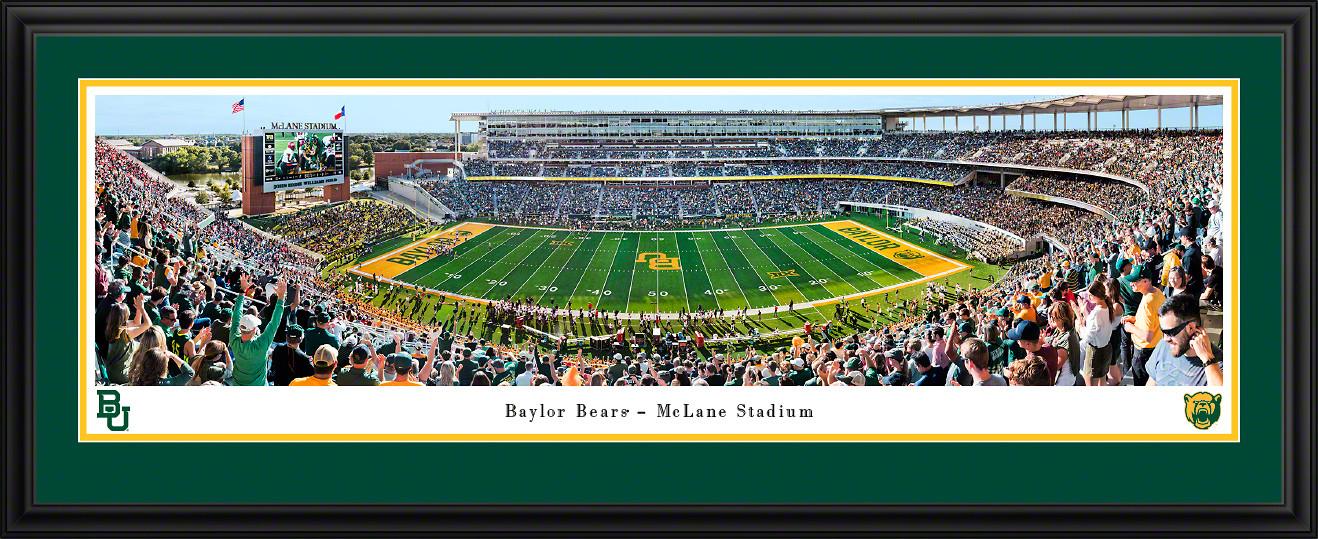 Baylor Bears Football Panoramic Poster - McLane Stadium