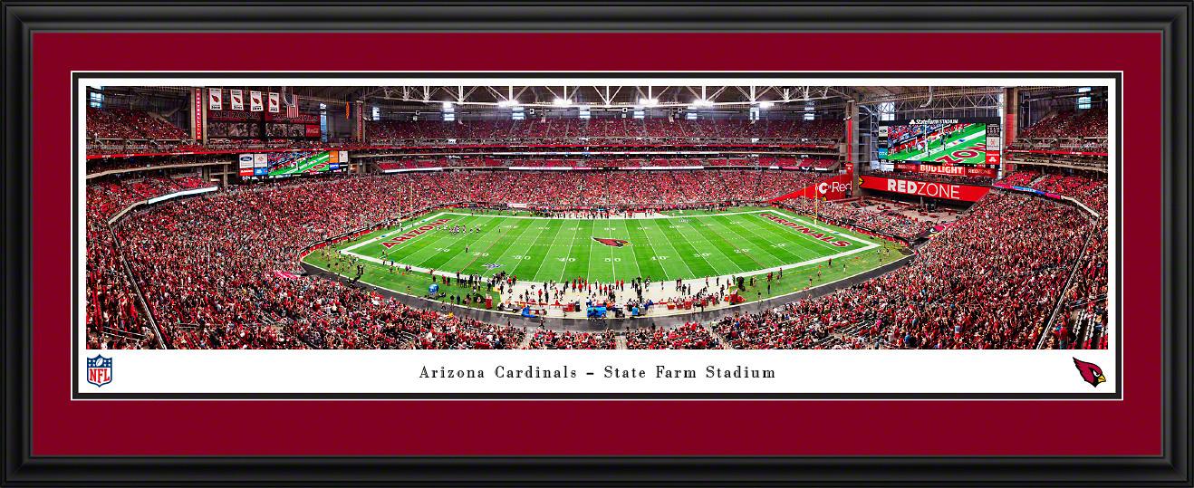 Arizona Cardinals Panoramic Poster - State Farm Stadium Picture