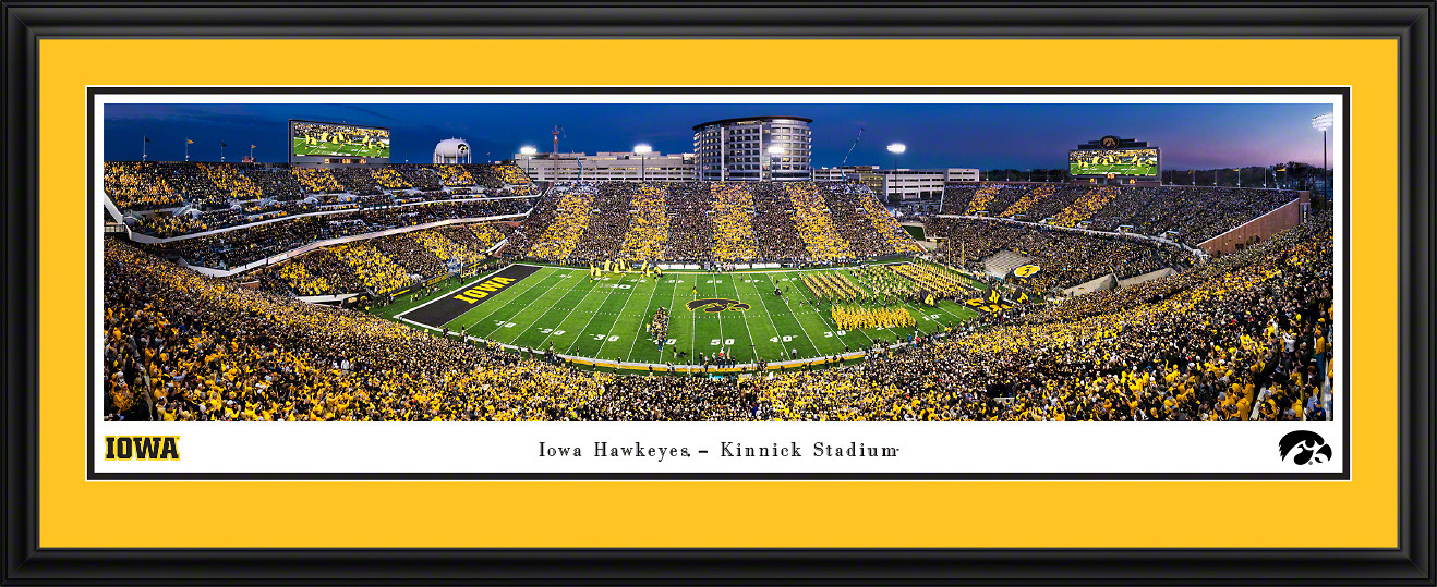 Iowa Hawkeyes Football Panoramic Print - Kinnick Stadium Sunset Poster
