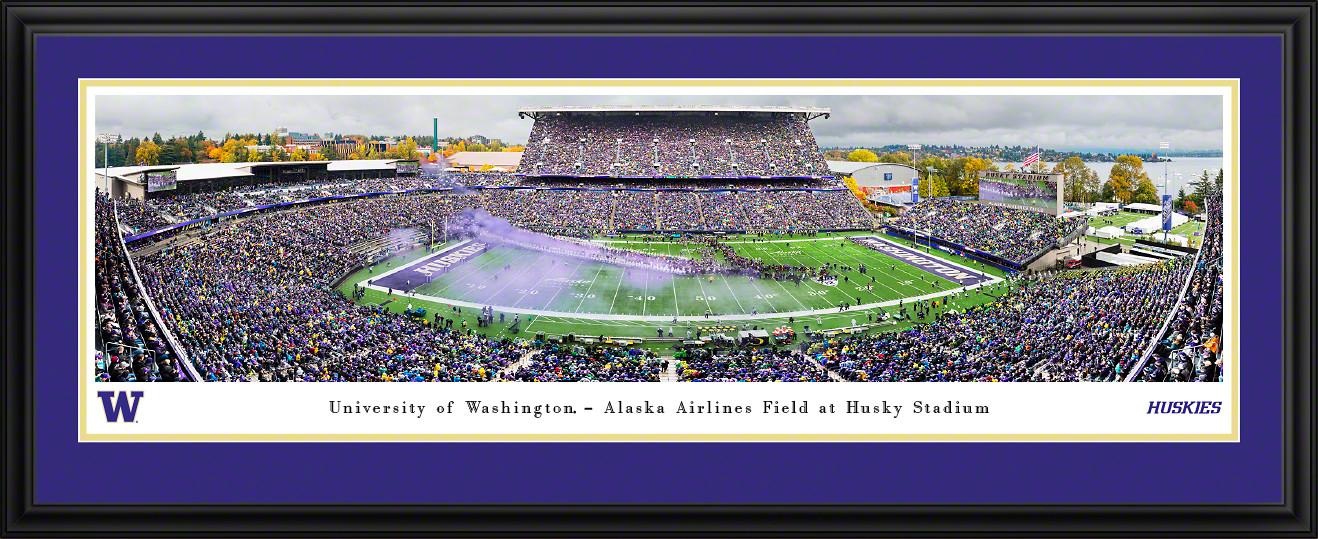 Washington Huskies Football Panoramic Poster - Husky Stadium Picture
