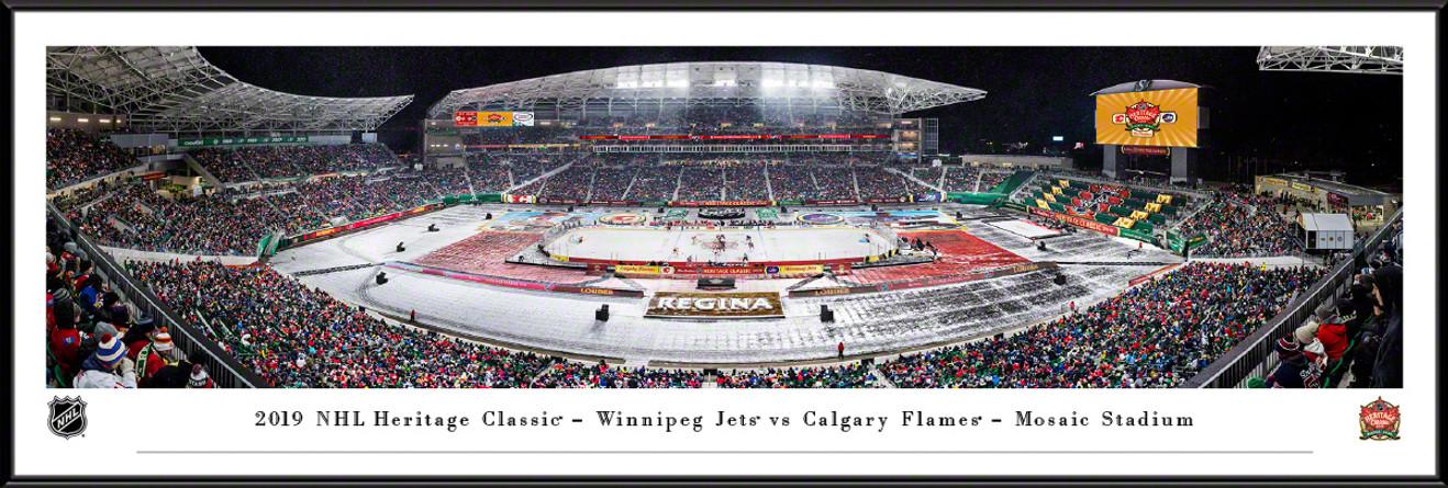 2019 NHL Heritage Classic Panoramic Poster - Calgary Flames vs. Winnipeg Jets
