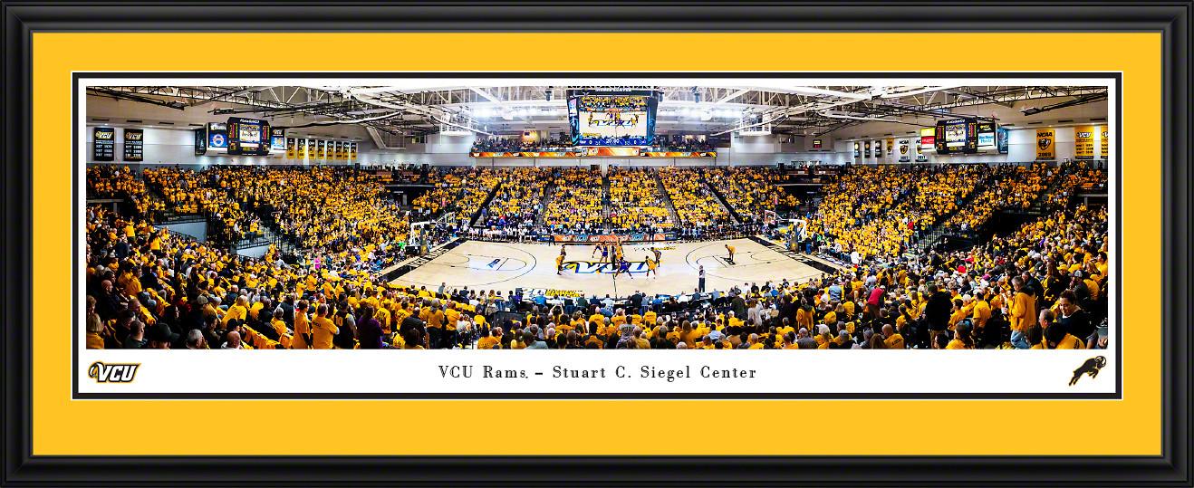 VCU Rams Basketball Panoramic Poster - Stuart C. Siegel Center Picture