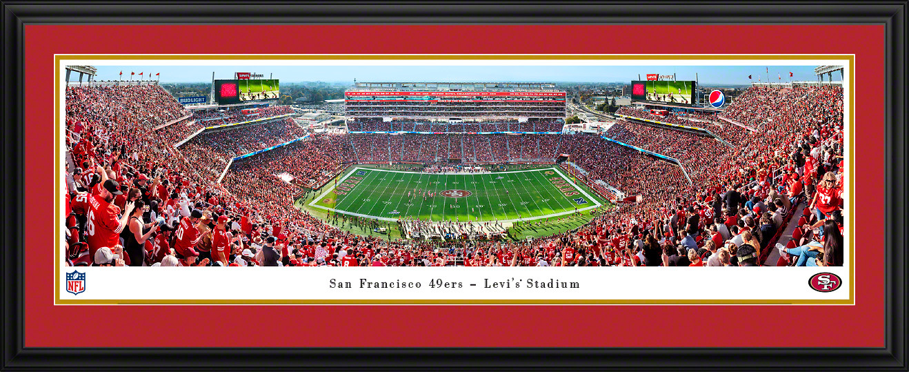 San Francisco 49ers Panoramic Poster - Levi's Stadium Picture 50 Yard