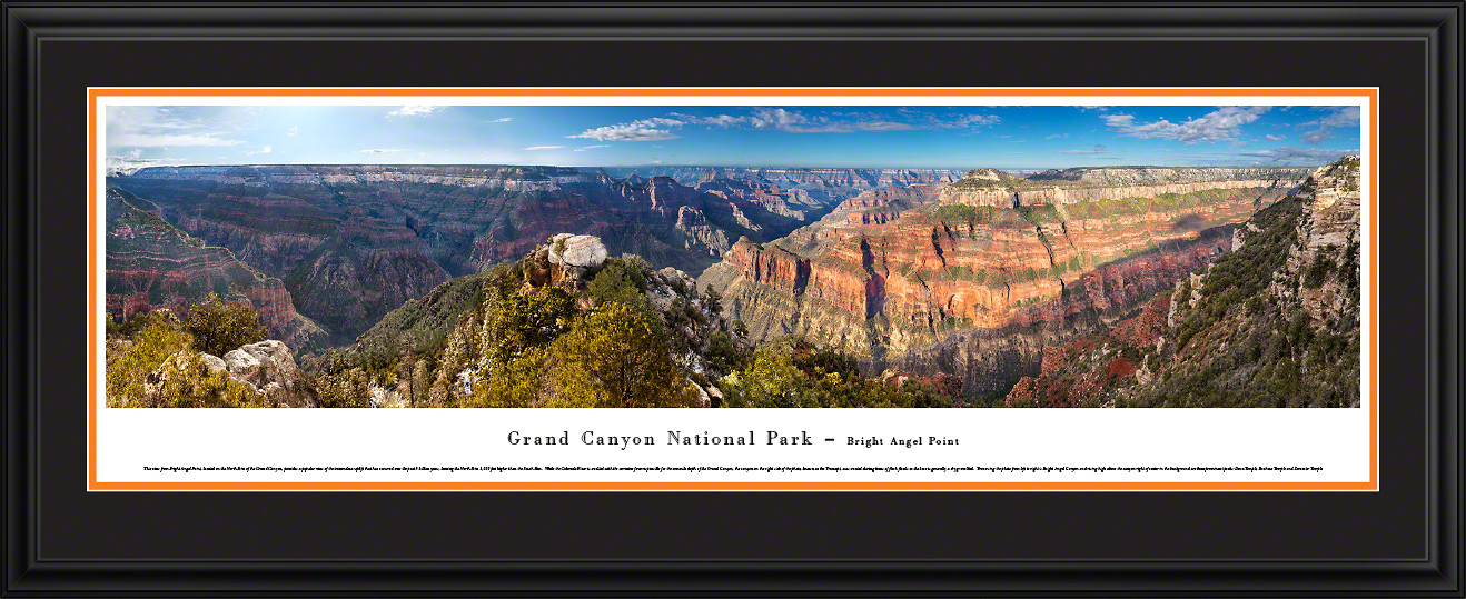 Grand Canyon National Park Panoramic Picture - Bright Angel Point