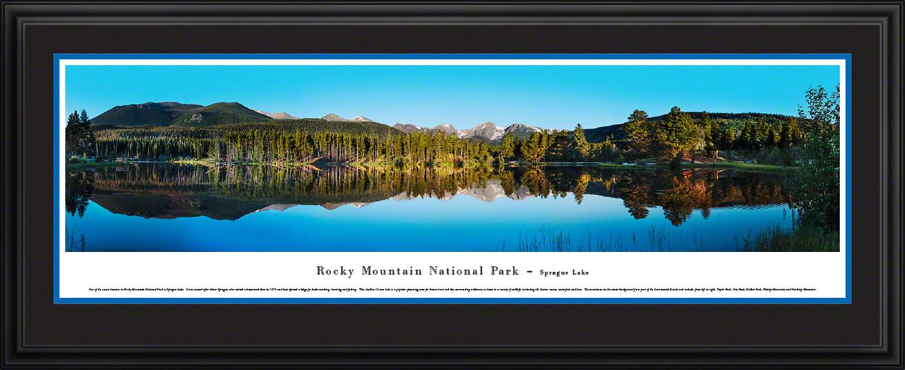 Rocky Mountain National Park Sprague Lake Scenic Landscape Panorama