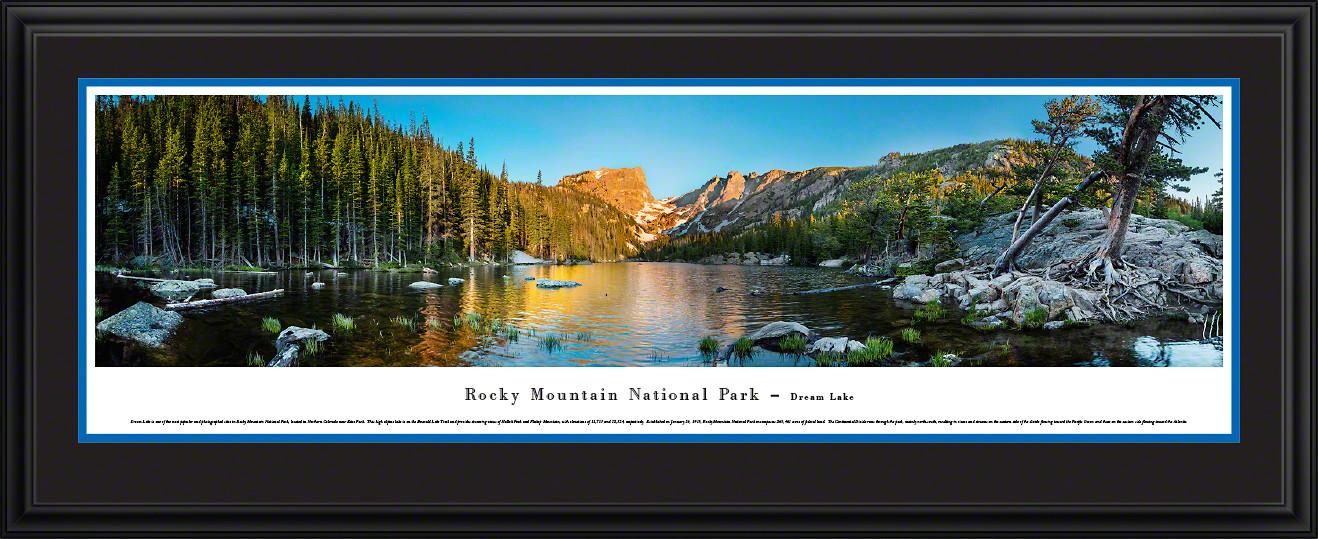 Rocky Mountain National Park Dream Lake Scenic Landscape Panoramic Decor