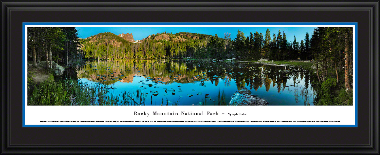 Rocky Mountain National Park Nymph Lake Scenic Landscape Panoramic Decor