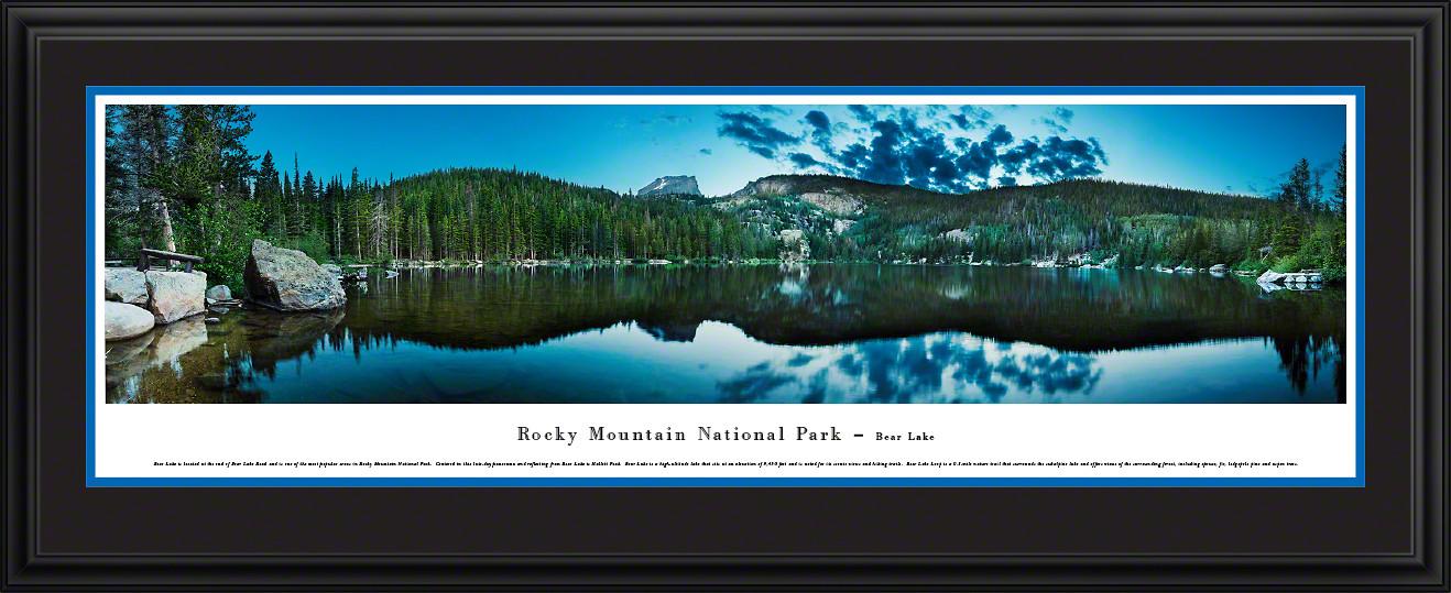 Rocky Mountain National Park Bear Lake Scenic Landscape Panoramic Decor