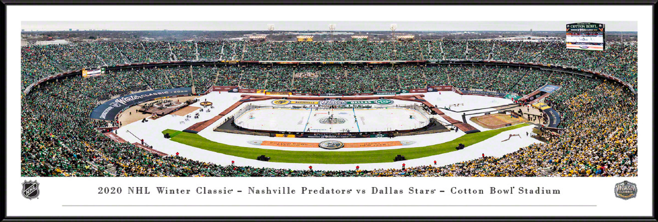2020 NHL Winter Classic Panoramic Poster - Dallas Stars vs. Nashville Predators