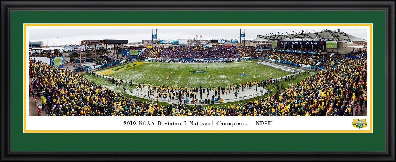 2020 NCAA FCS Football Championship Panoramic Poster - NDSU Bison