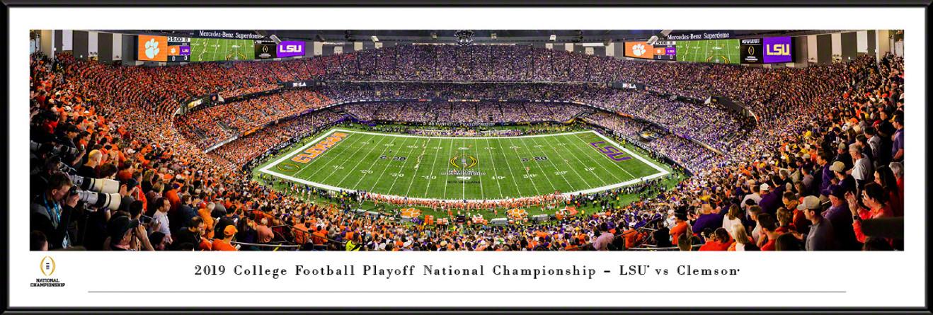 2020 College Football Playoff National Championship Kickoff Panoramic Poster - LSU vs. Clemson