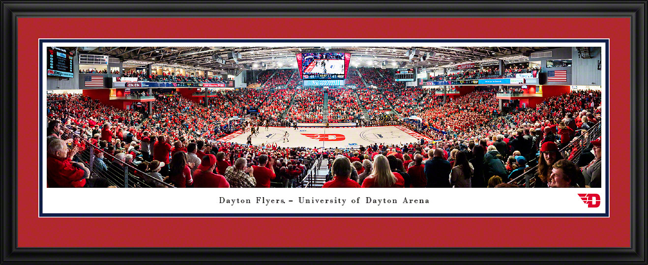 Dayton Flyers Basketball Panoramic Poster - UD Arena Picture