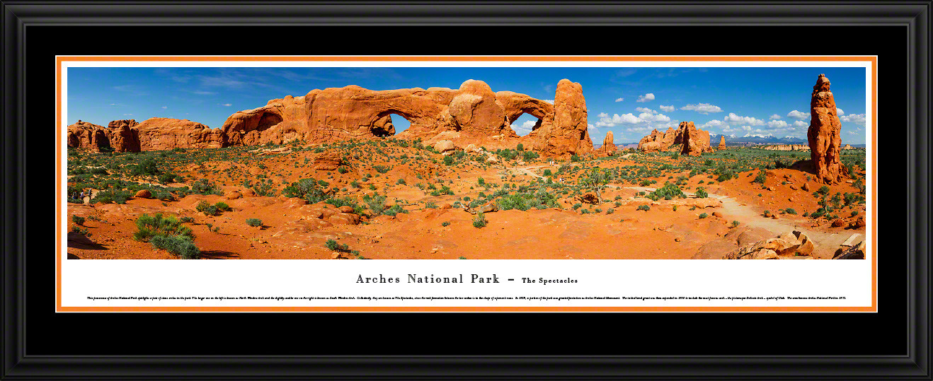 Arches National Park Panoramic Picture - The Spectacles