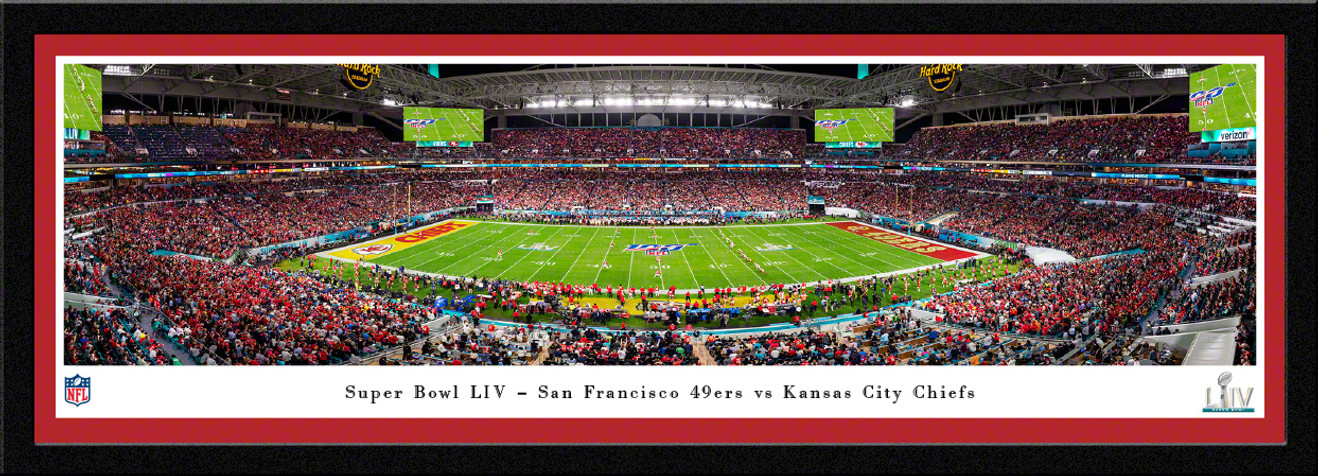 2020 Super Bowl LIV Panoramic Poster - San Francisco 49ers vs. Kansas City Chiefs