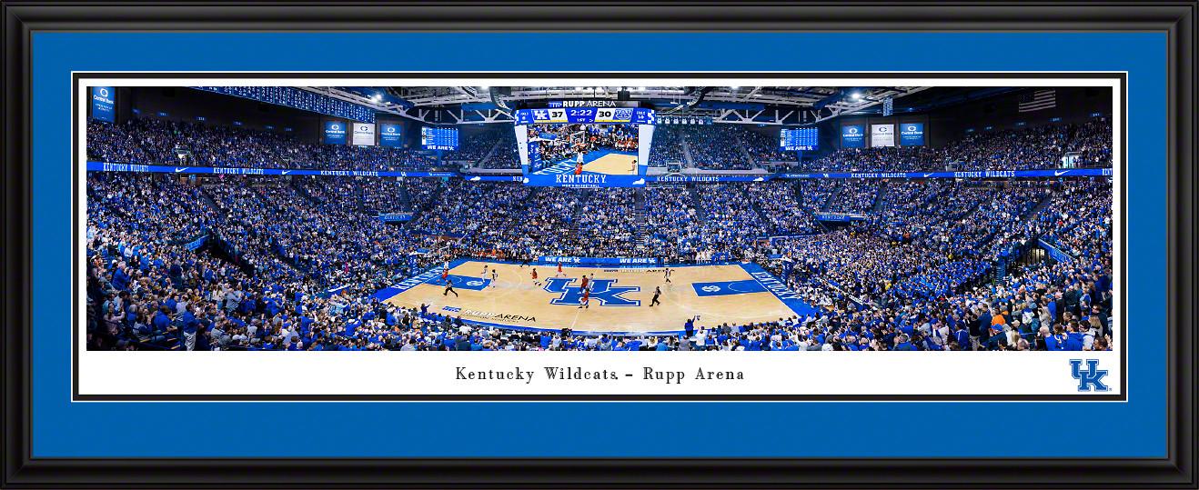 Kentucky Wildcats Basketball Panoramic Poster - Rupp Arena Fan Cave Decor