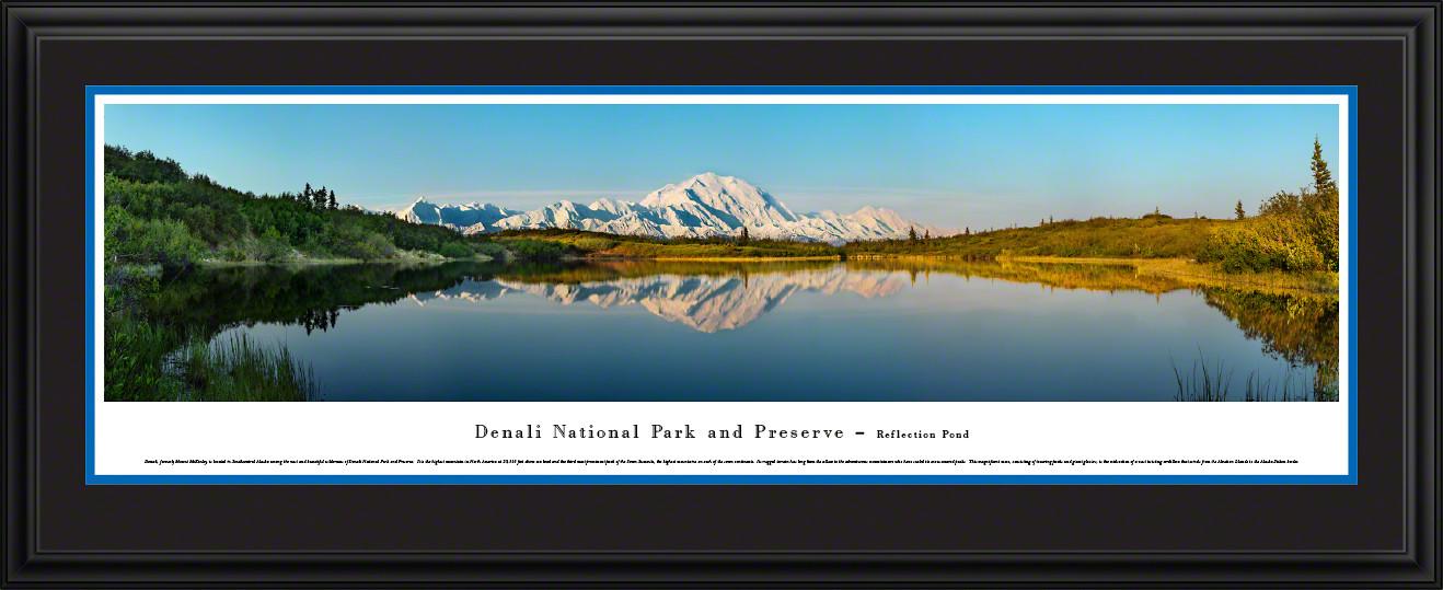 Denali National Park Scenic Panorama - Reflection Pond