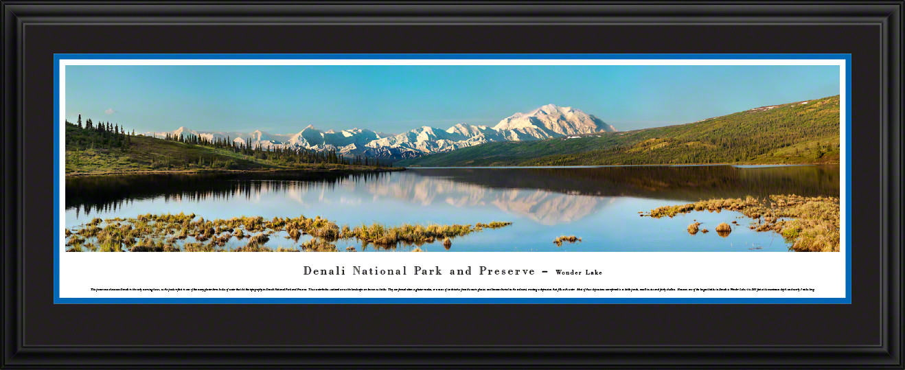 Denali National Park Scenic Panorama - Wonder Lake