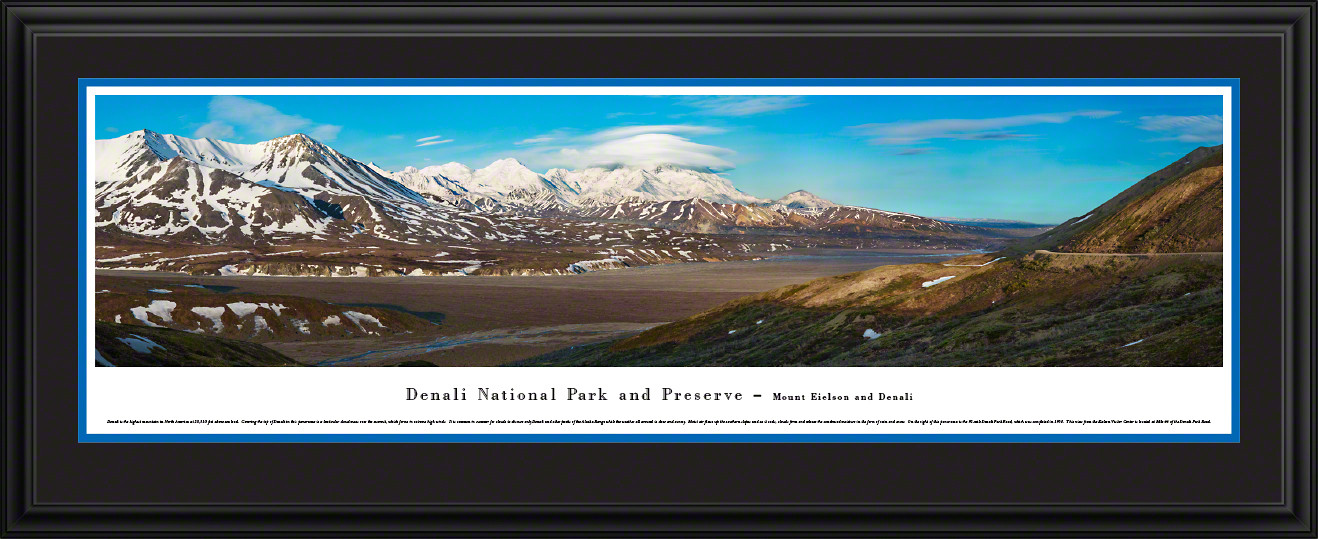 Denali National Park Scenic Panorama - Mount Eielson and Denali