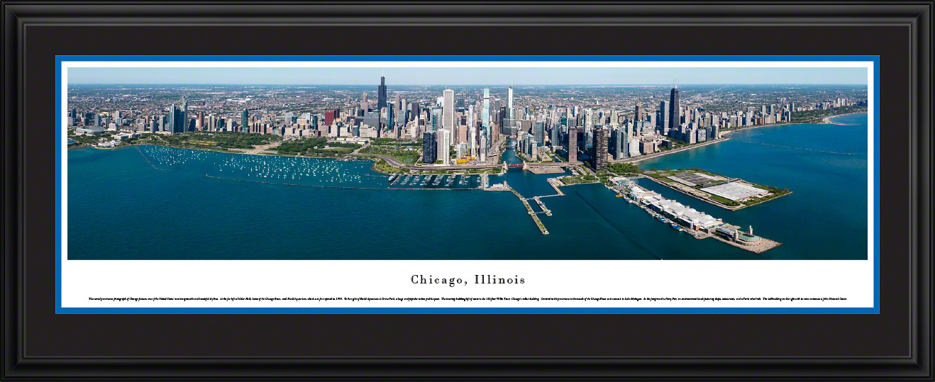 Chicago, Illinois City Skyline Panoramic Picture - Downtown