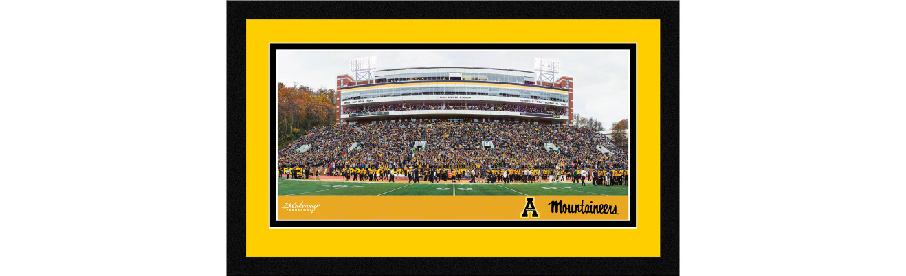 Appalachian State Mountaineers Football Framed Panoramic Picture - Kidd Brewer Stadium
