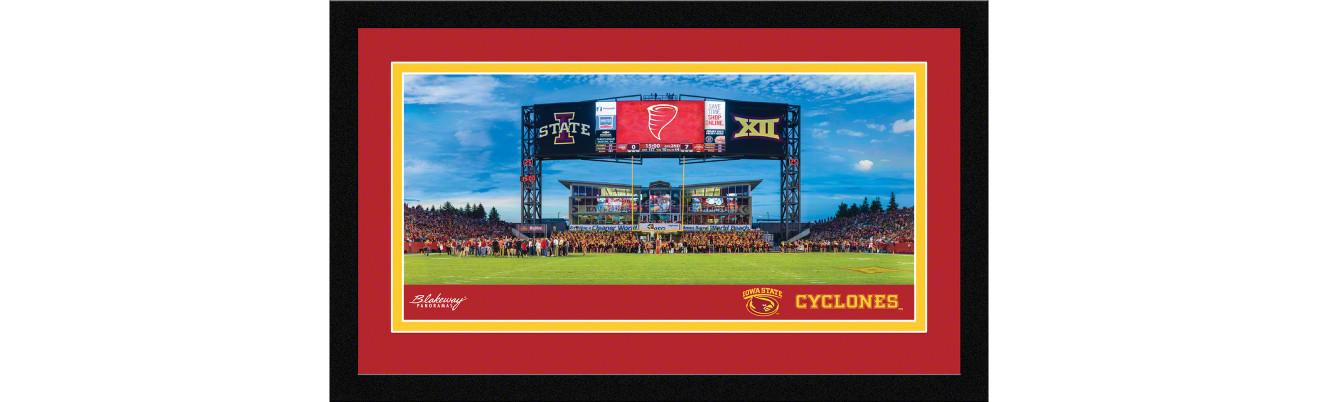 Iowa State Cyclones Football Framed Panoramic Picture - Jack Trice Stadium
