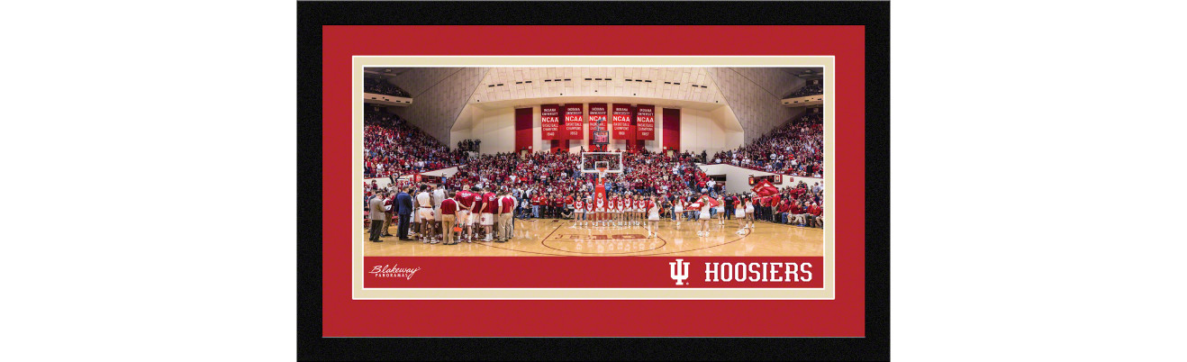 Indiana Hoosiers Basketball Framed Panoramic Picture - Assembly Hall