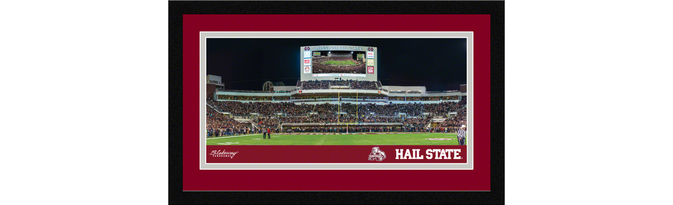 Mississippi State Footballl Framed Panoramic Picture - Davis Wade Stadium