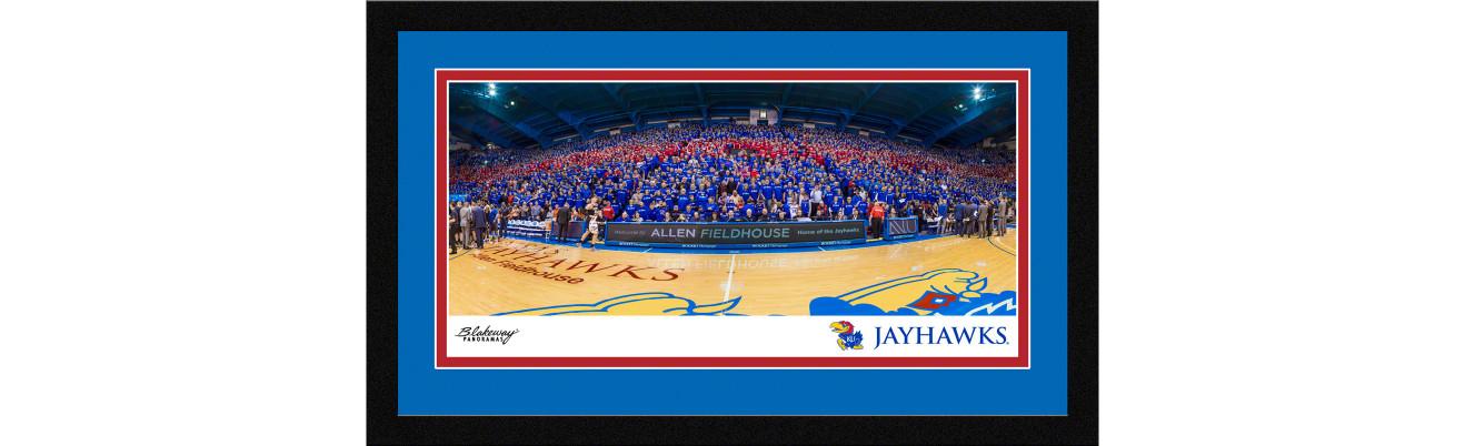 Kansas Jayhawks Basketball Framed Panoramic Picture - Allen Fieldhouse