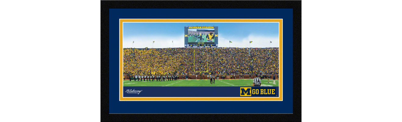 Michigan Wolverines Football Framed Panoramic Picture - Michigan Stadium