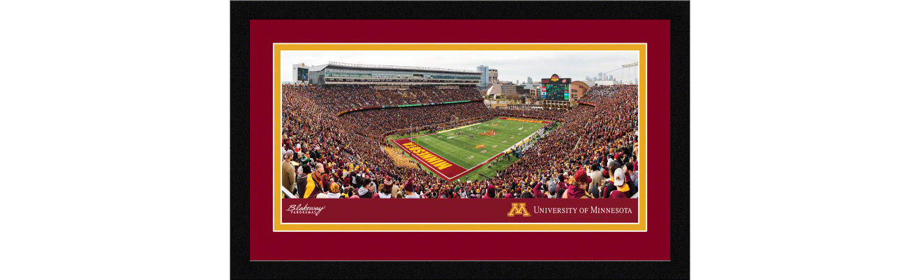Minnesota Golden Gophers Football Framed Panoramic Picture - TCF Bank Stadium