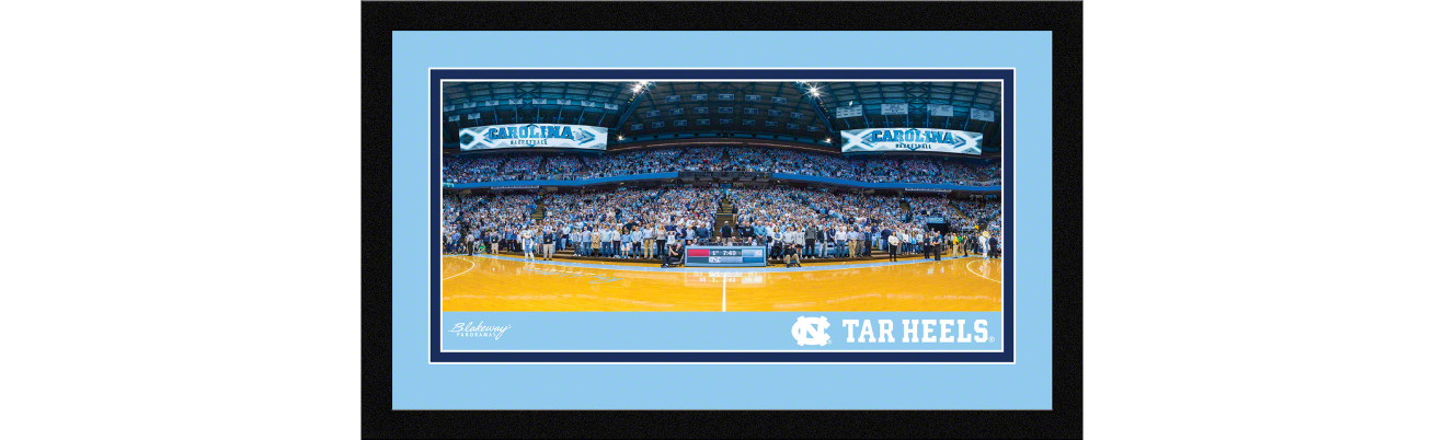 North Carolina Tar Heels Basketball Framed Panoramic Picture - Dean Smith Center