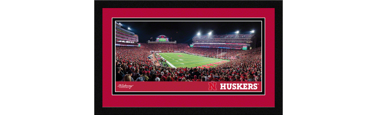 Nebraska Cornhuskers Football Framed Panoramic Picture - Memorial Stadium