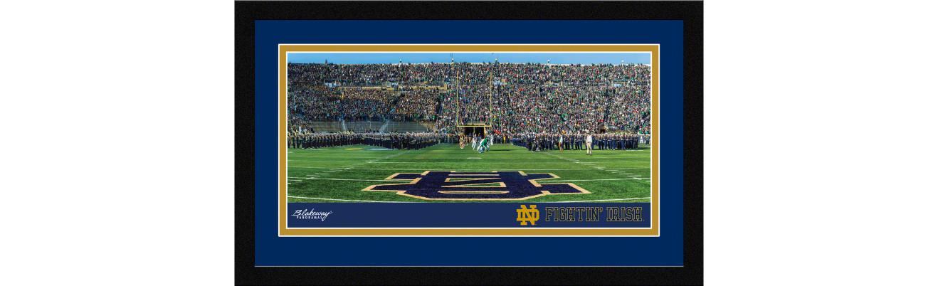 Notre Dame Fighting Irish Football Framed Panoramic Picture - Notre Dame Stadium