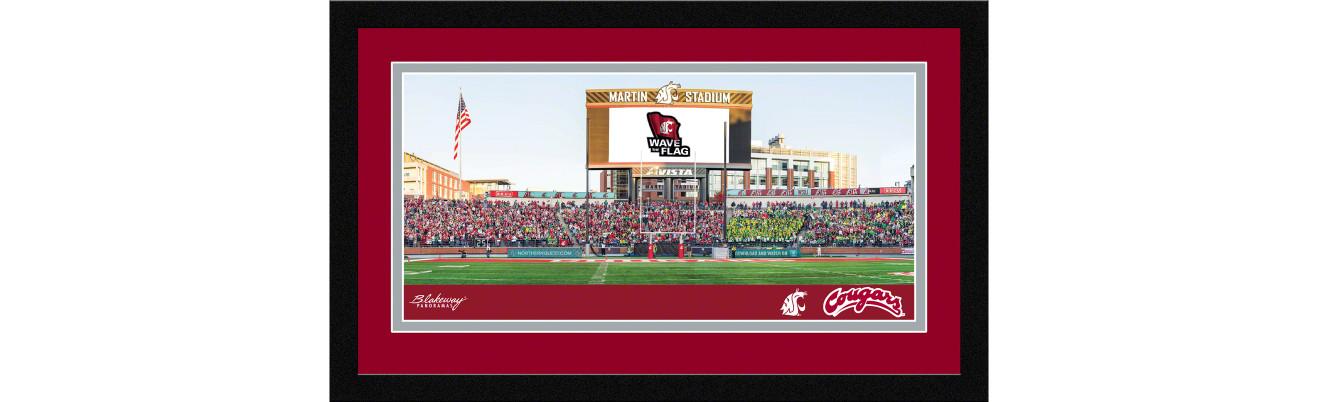 Washington State Cougars Football Framed Panoramic Picture - Martin Stadium