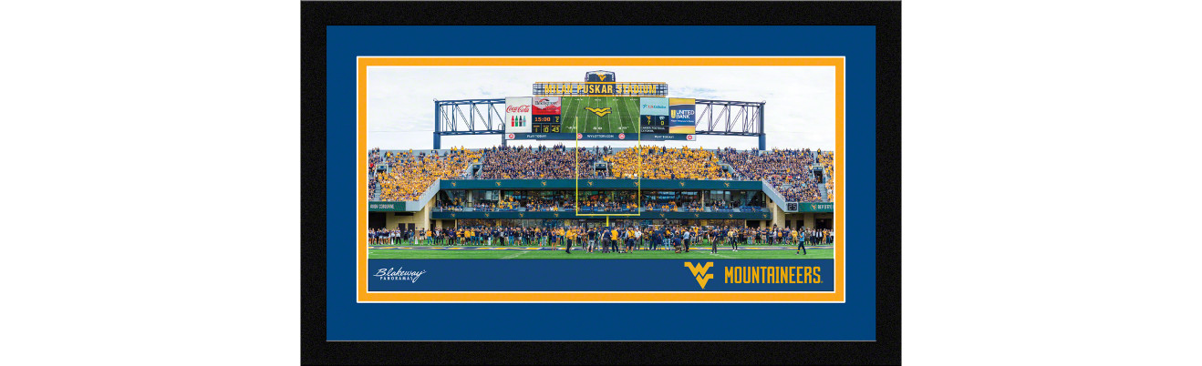 West Virginia Mountaineers Football Framed Panoramic Picture - Mountaineer Field at Milan Puskar Stadium
