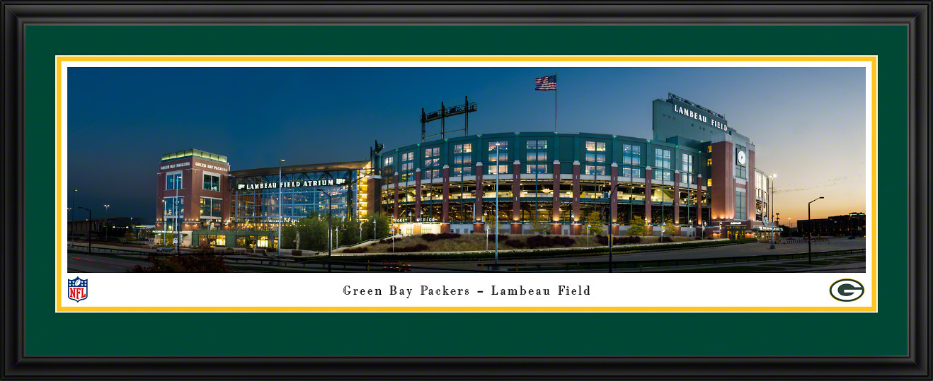 Green Bay Packers Panoramic Fan Cave Poster - Lambeau Field Picture