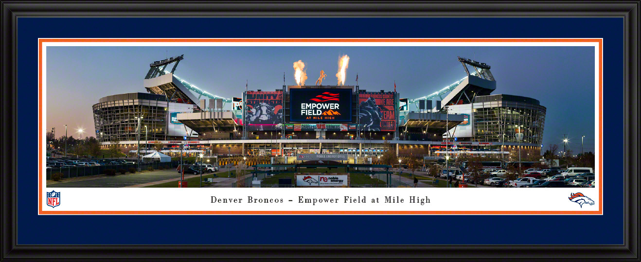 Denver Broncos Panoramic Fan Cave Poster - Empower Field at Mile High Stadium Panorama