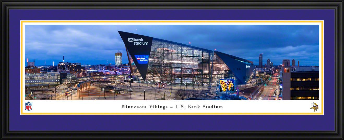 Minnesota Vikings Panoramic Fan Cave Decor - U.S. Bank Stadium NFL Poster