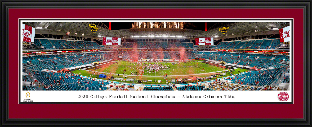 2021 College Football Playoff National Championship Panoramic Wall Decor - Alabama Crimson Tide