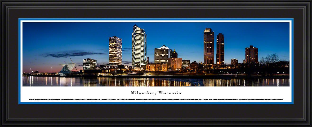 Milwaukee, Wisconsin City Skyline Panoramic Wall Decor