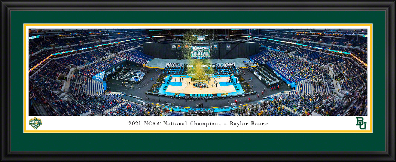 2021 NCAA Men's Basketball National Champions Panoramic Picture - Baylor Bears