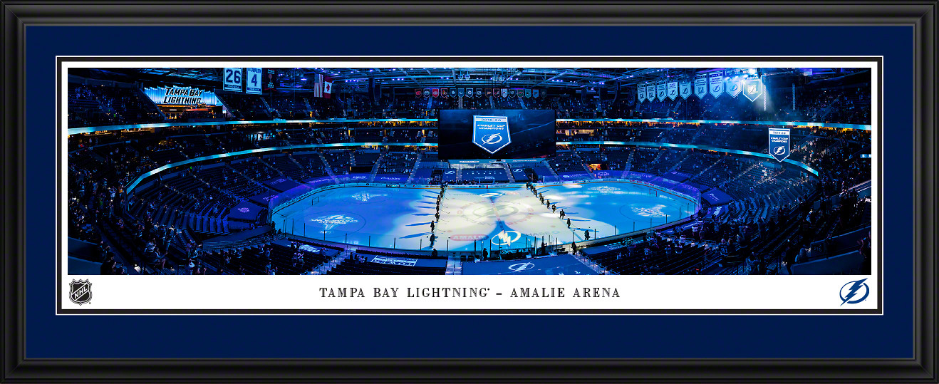 Tampa Bay Lightning Banner Raising Panoramic Poster - NHL Fan Cave Wall Decor