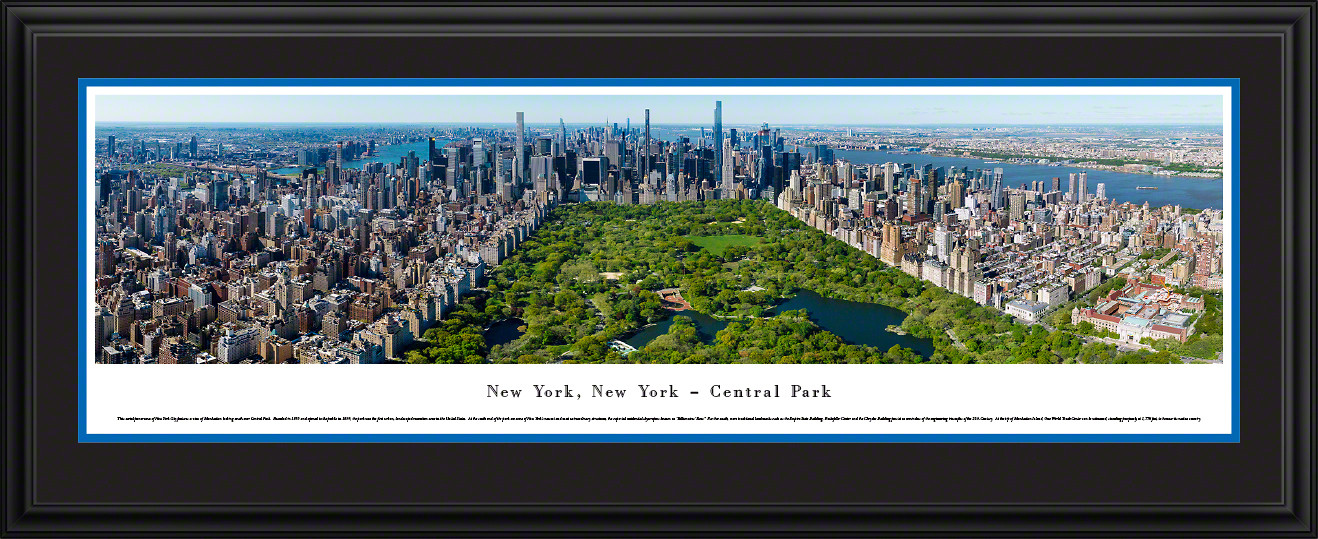 New York City - Central Park Panoramic Wall Art