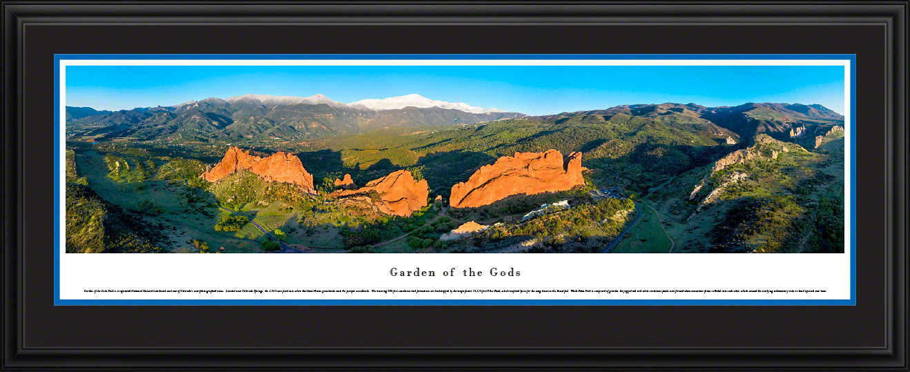 Garden of the Gods National Natural Landmark Panoramic Wall Decor