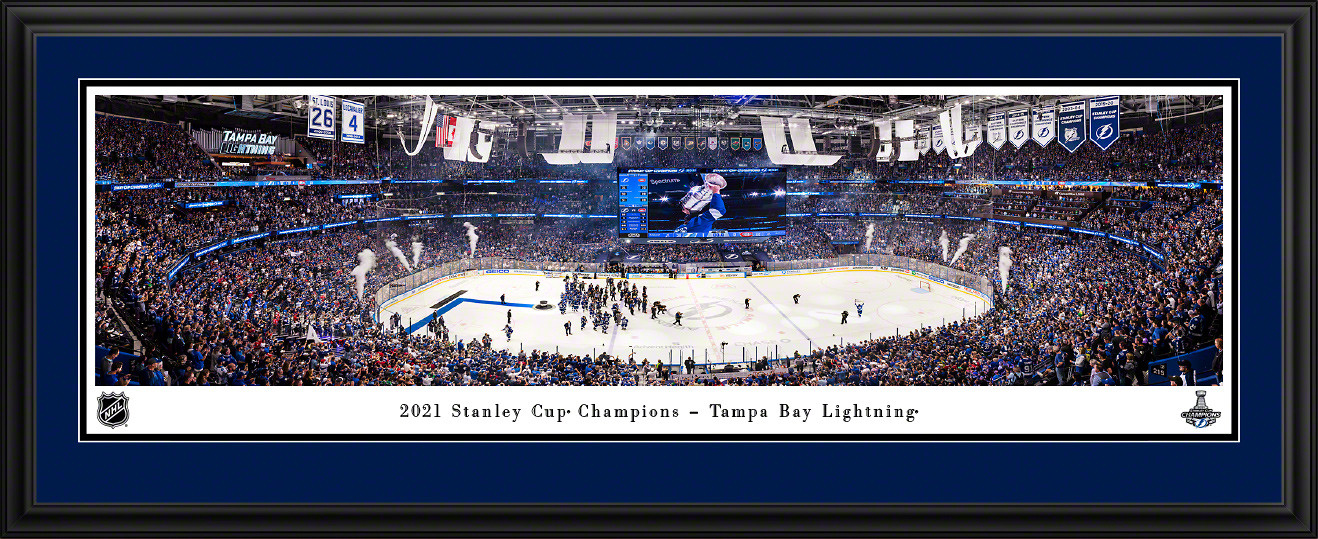 2021 Stanley Cup Champions Panoramic Picture - Tampa Bay Lightning