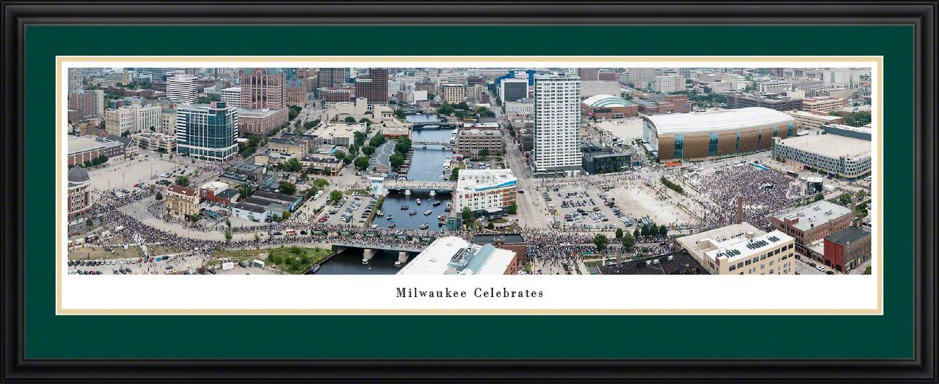 Milwaukee Celebrates - Milwaukee Bucks Parade Panoramic Picture
