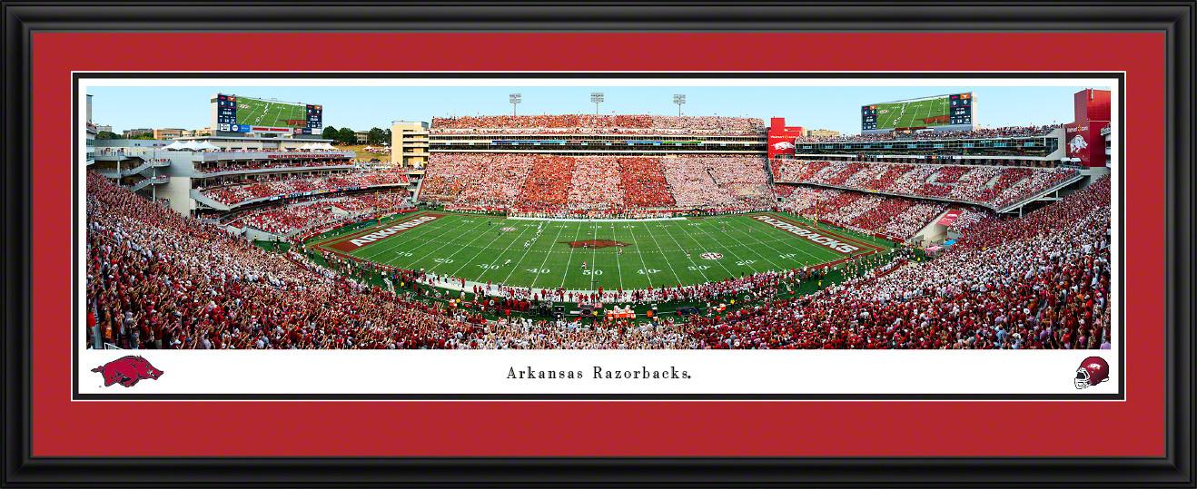 Arkansas Razorbacks Football Panoramic Poster - Donald W. Reynolds Razorback Stadium