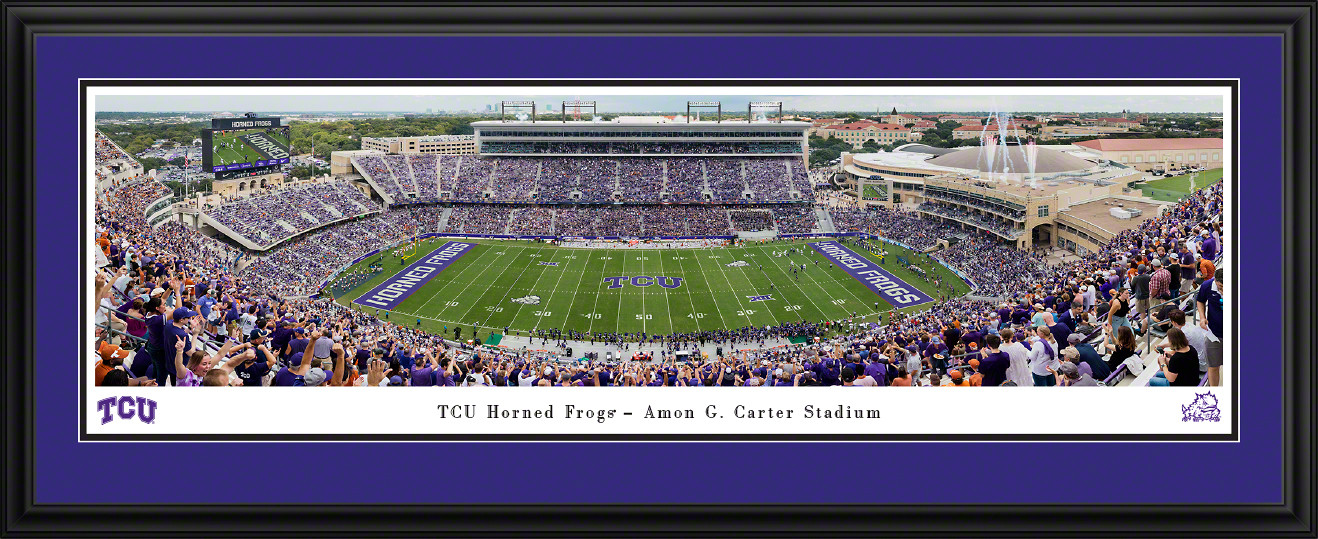TCU Horned Frogs Football Panoramic Picture - Amon G Carter Stadium